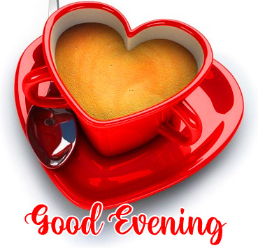 Coffee Cup Good Evening Image