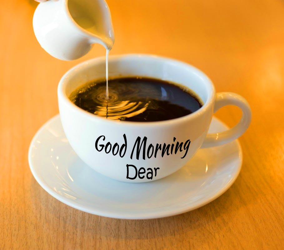 Coffee Cup with Good Morning Dear Message