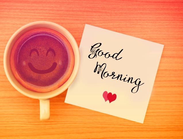 Coffee with Good Morning Greeting