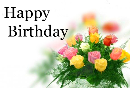 Colourful Flowers Happy Birthday Image