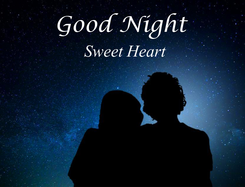 Couple with Good Night Sweet Heart Greeting