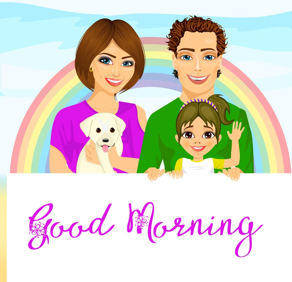 Creative Animated Good Morning Family Pic