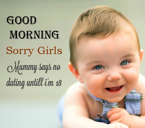 Cute Baby Quotes Good Morning Image