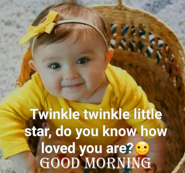 Cute Baby Quotes Good Morning Wish Image