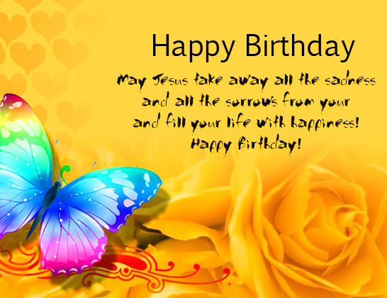 Cute Butterfly and Rose Happy Birthday Message Picture