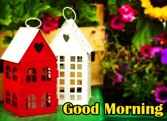 Cute Garden Houses with Good Morning Wish