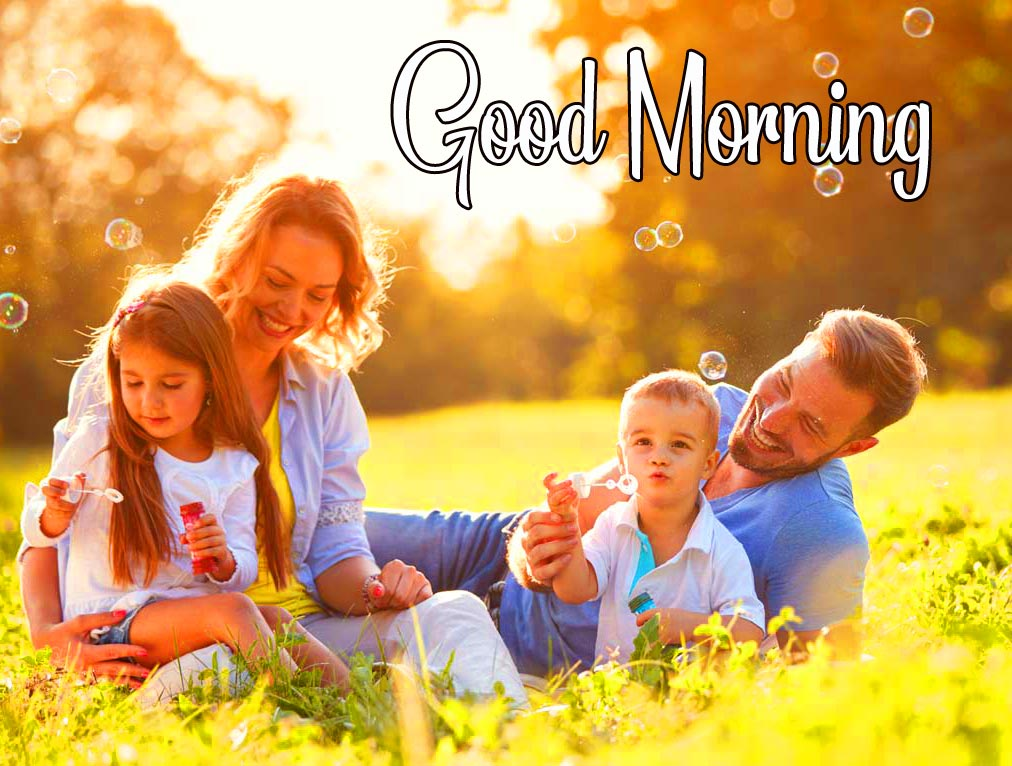 Cute Happy Family Good Morning Picture
