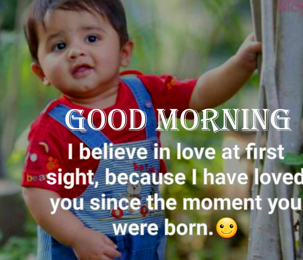 Cute and Adorable Baby Quotes Good Morning Image