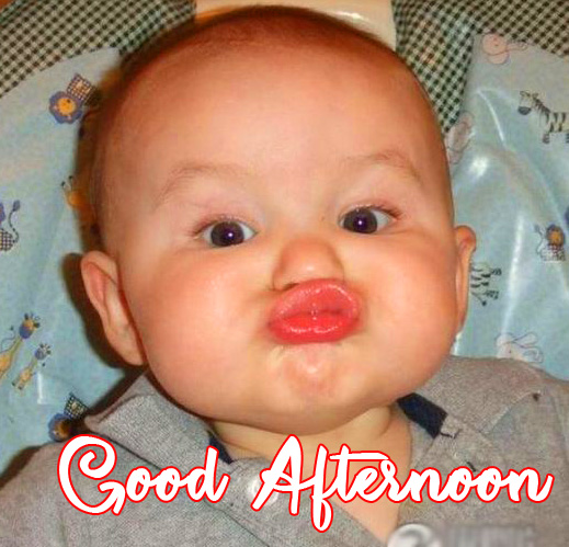 Cute and Funny Baby Good Afternoon Sunday Pic