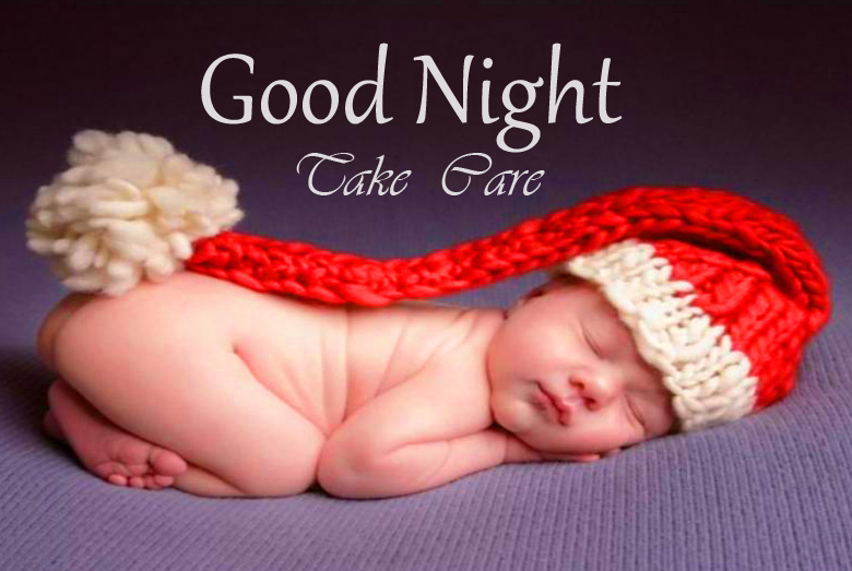 Cute and Lovely Sleeping Baby Good Night Take Care Picture