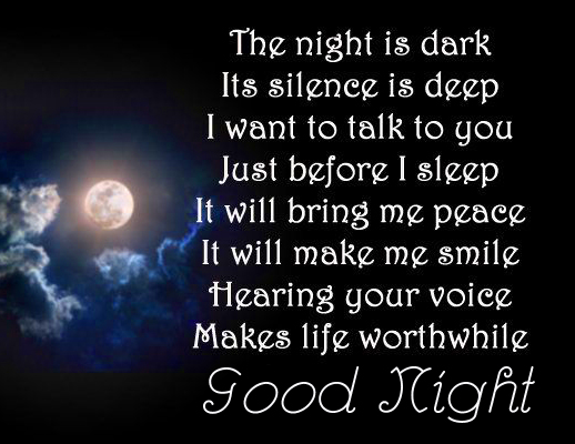Dark and Deep Night Blessing Quotes with Good Night Wish