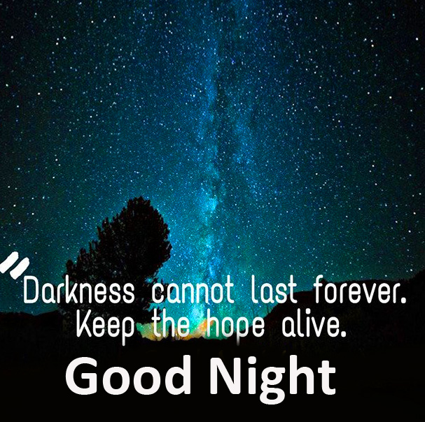 Darkness English Quotes Good Night Picture