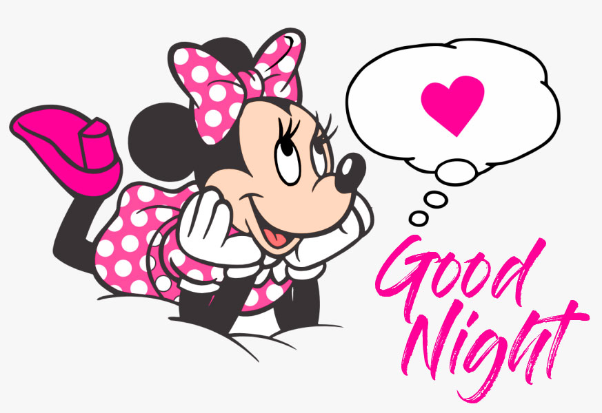 Dreamy Minnie Mouse Good Night Image
