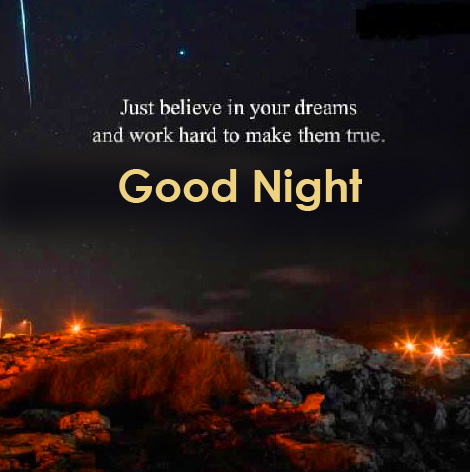English Quotes with Good Night Wish