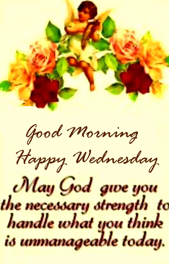 Floral Good Morning Happy Wednesday Blessing Quotes Wallpaper