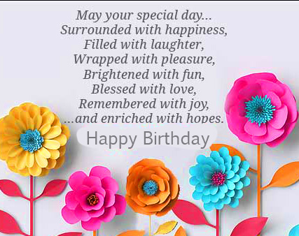 Flowers Happy Birthday Message Picture HD