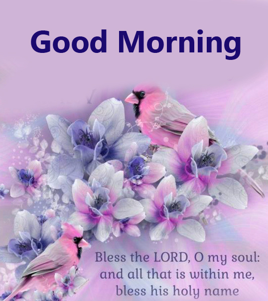 Flowers with Good Morning Blessing Image HD