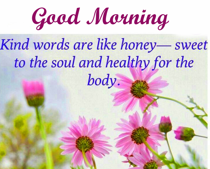 Flowers with Good Morning Blessing Image