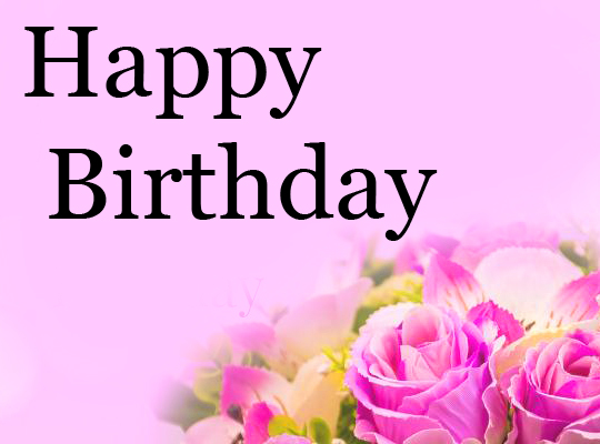 Flowers with Happy Birthday Message Picture