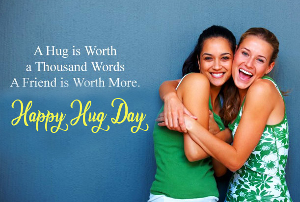 Friends Happy Hug Day Message Image