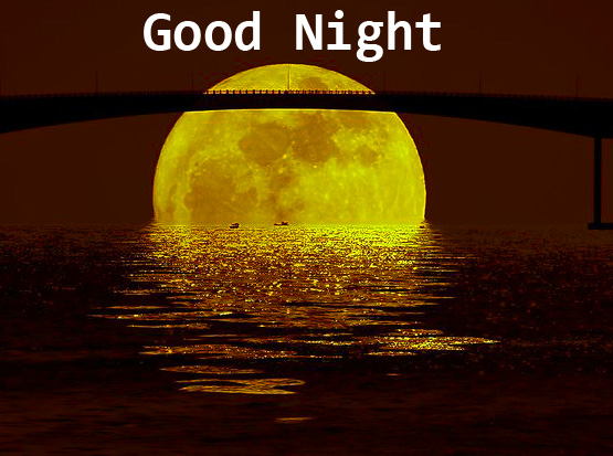 Full Moon with Good Night Pic