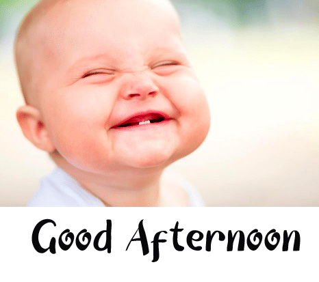 Funny Baby Good Afternoon Sunday Picture