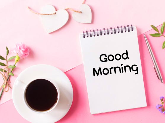 Gd Mrng Card with Coffee