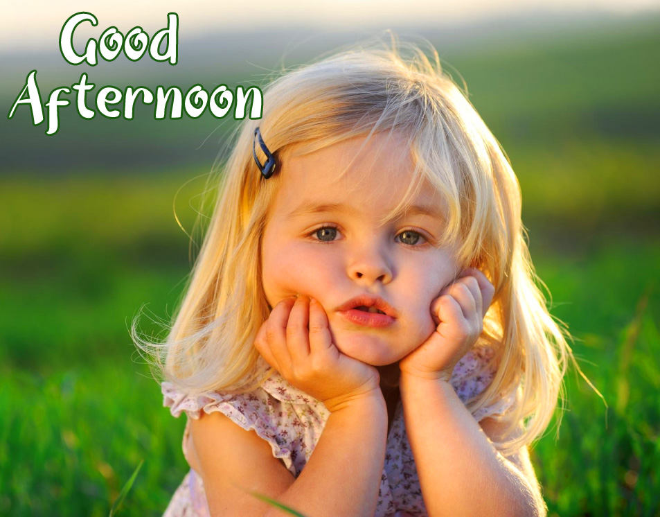 Girl Kid Good Afternoon Sunday Picture