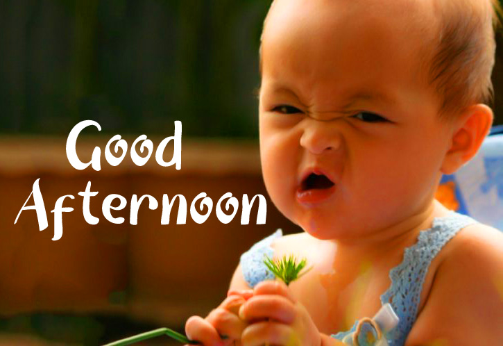 Good Afternoon Sunday Funny Kid Picture