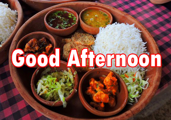 Good Afternoon Sunday Vegetarian Lunch Image