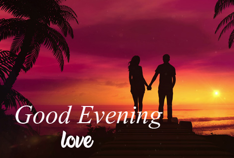 Good Evening Love Wish with Couple