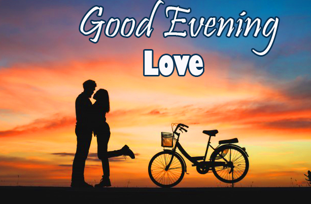 Good Evening Love with Love Couple Picture