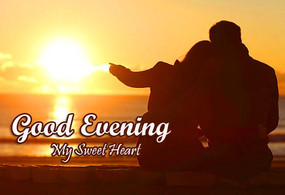 Good Evening My Sweetheart Couple Sunset Picture HD