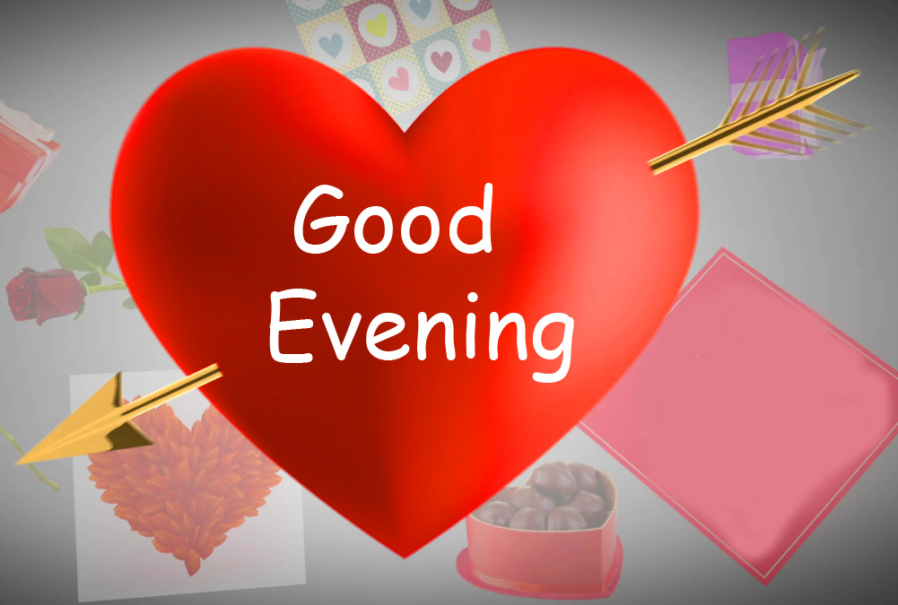 Good Evening Red Heart Picture HD