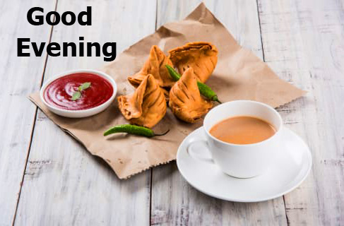 Good Evening Samosa Chai Wallpaper and Picture HD