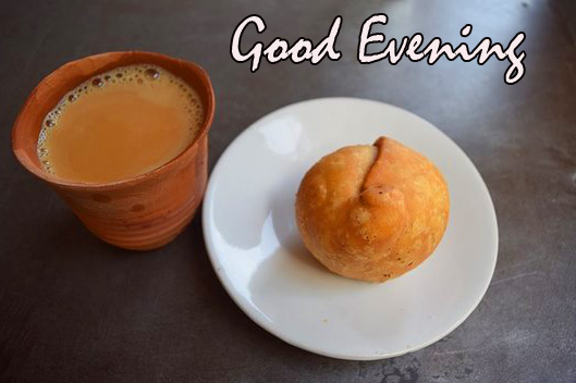 Good Evening Samosa and Chai HD Picture