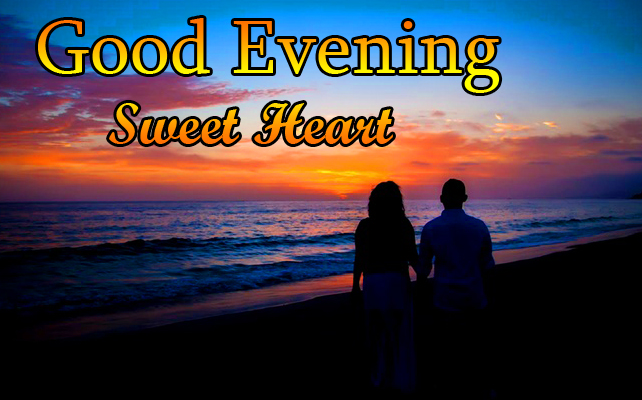 Good Evening Sweetheart Couple Picture