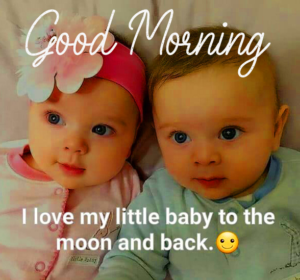 Good Morning Adorable Baby Quotes Image