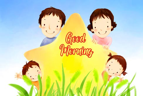 Good Morning Animated Family Picture HD
