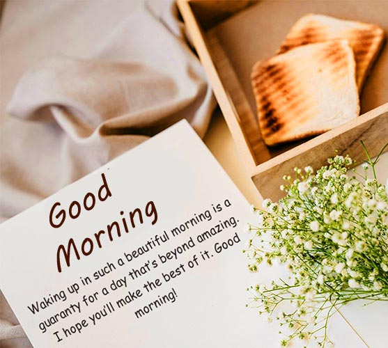Good Morning Card with Quotes and Breakfast