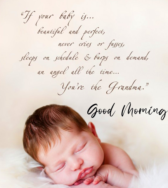 Good Morning Cute Baby Quotes Image