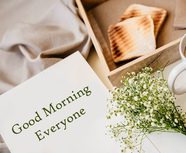 Good Morning Everyone Card with Flowers