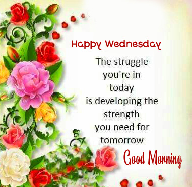 Good Morning Happy Wednesday Blessing Pic