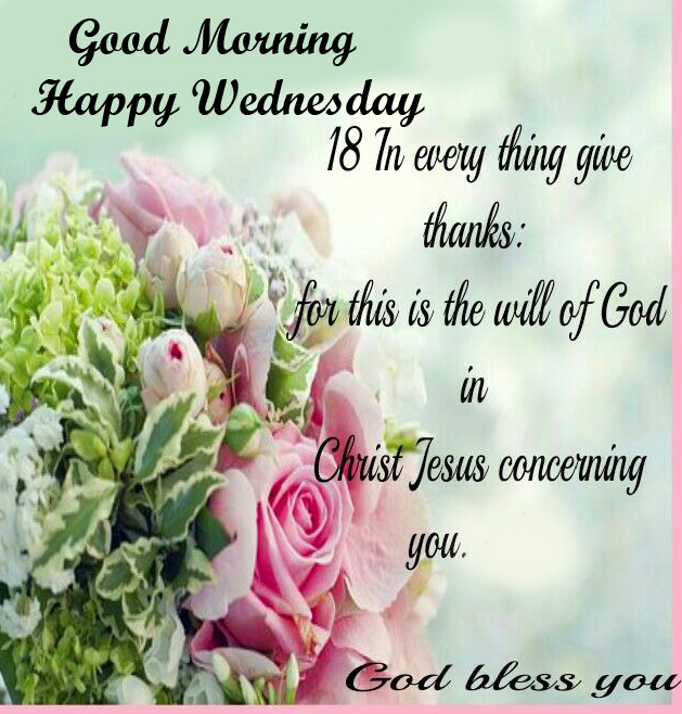 Good Morning Happy Wednesday Blessing Quotes Pic