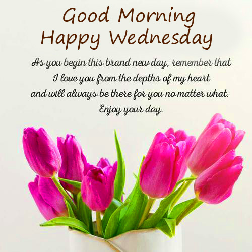Good Morning Happy Wednesday Lovely Blessing Picture