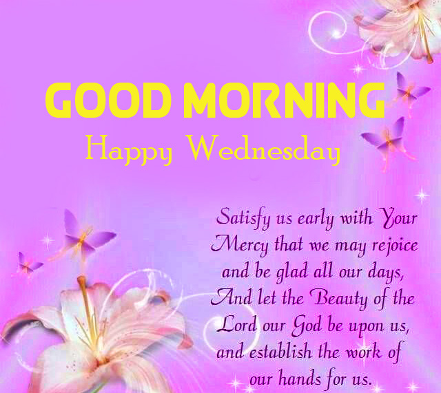 Good Morning Happy Wednesday with Blessing Quotes