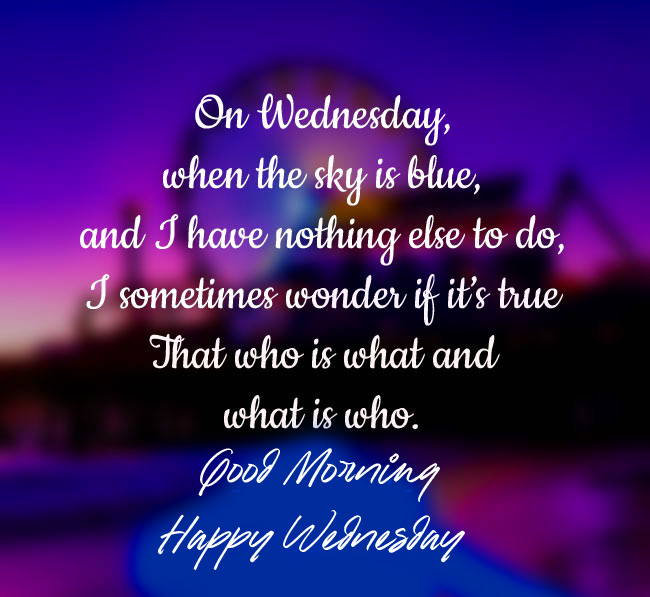Good Morning Happy Wednesday with Wednesday Blessing Message