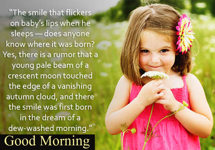 Good Morning Lovely HD Baby Quotes Picture