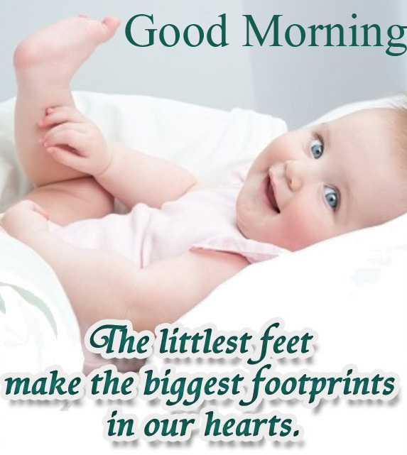 Good Morning Message with Baby Quotes