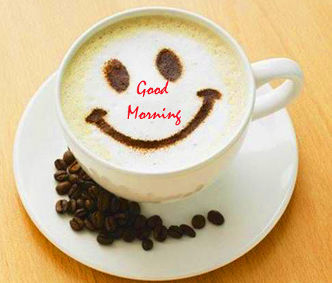 Good Morning Smiley Coffee Cup Image